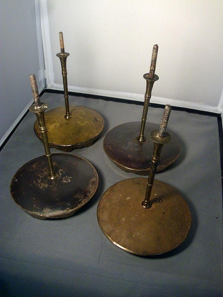 Early Amp Large 19th Century Gilt Spun Brass Drapery Tie