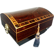 Early 19th century Regency Rosewood Tea Caddy or Jewelry Box