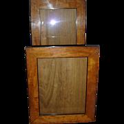 Good Pair 19th c. Biedermeier Fruitwood & Ebonized Wood Picture Frames