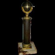 19th century French Empire Antique Gilt & Patinated Bronze Armillary Terrestrial Globe on Colu