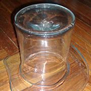 Antique Victorian 19th century Blown Glass Top Hat Wine Cooler