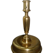 Large Antique 17th / 18th century Continental Brass Candlestick