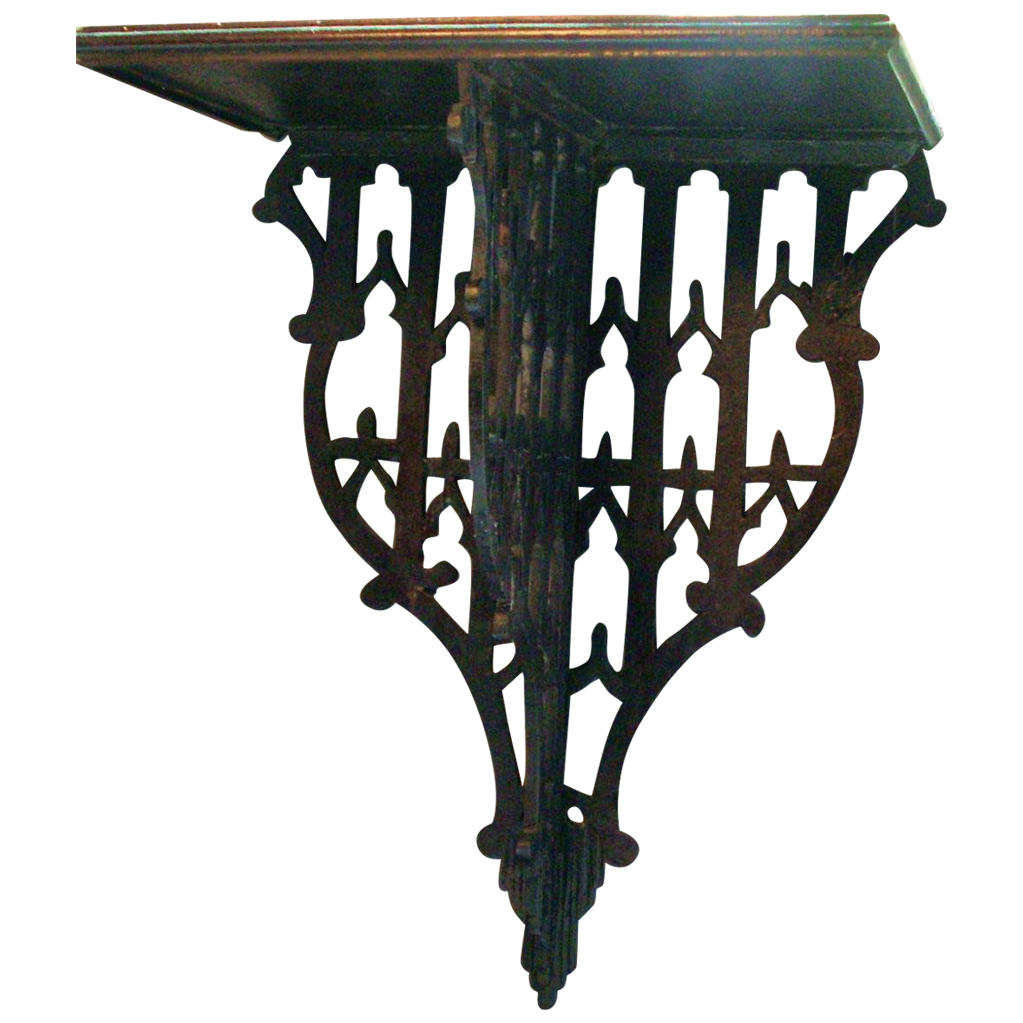 Antique 19th century Regency Mahogany Wall Bracket Sconce in the Gothic Taste