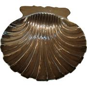 Antique 18th century George III Sterling Silver Butter Scallop Shell Dish 1750 Samuel Herbert