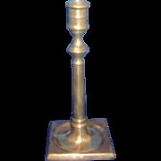 18th century English Brass Candlestick