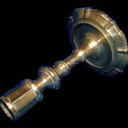 Antique Georgian 18th century English Brass Candlestick