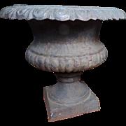 Antique 19th century American Cast Iron Garden Planter Urn