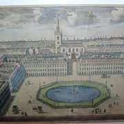 18th century Print of St. James Square London