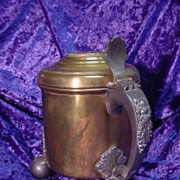 Large/Heavy Brass Mug with Feet...