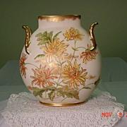 Limoge Pillow Vase....Spider Mums