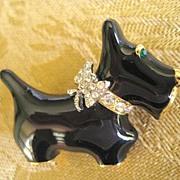 Scottie Terrier Dog Enamel Pin Brooch