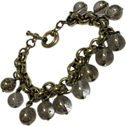 AGATHA PARIS Gold-tone Bracelet with Gold-flecked Crystal Ball Charms