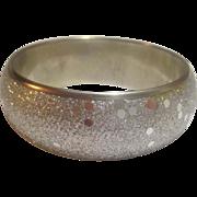 Silver-Tone Glitter and Spangle Covered Metal Bangle
