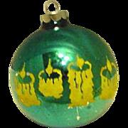 SALE Shiny Brite Blue Stenciled Ornament Candles
