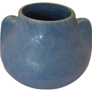 "Burley Winter Art Pottery ""Earred ""Jug Blue"