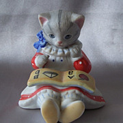 SOLD Kitty Cucumber  Figurine By Schmid
