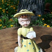 SALE Wales Ceramic Little  Girl  Figurine