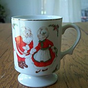 SALE Vintage Santa Claus Christmas Coffee Mug