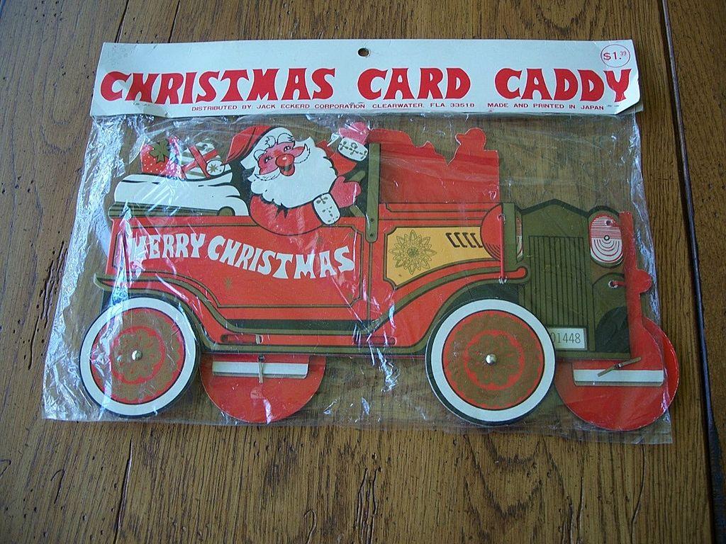 Vintage Christmas Card Caddy Japan
