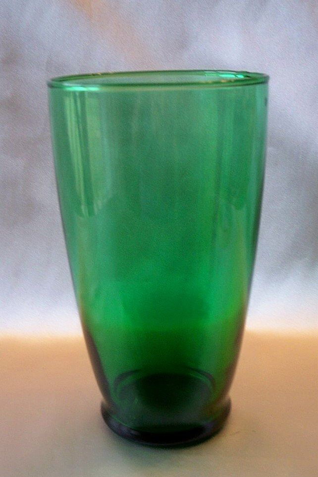 Forest Green Flat Tumbler by Anchor Hocking