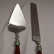 SOLD Lenox Holiday Gatherings Cake Knife And Cake Server