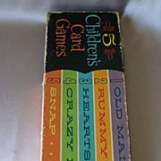 Whitman Five Childrens Card Games 1963