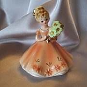 SOLD Josef Original November Topaz Birthday Girl Figurine