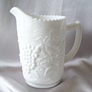 Imperial Glass Milk Glass Pitcher