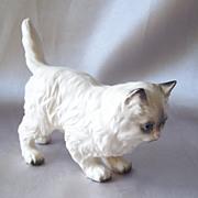 Ceramic Persian Cat Figurine Japan