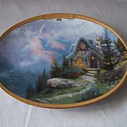 SOLD Thomas Kinkade Scenes Of Serenity Rainbows End Cottage Plate