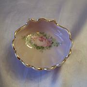 Cambridge Crown Tuscan Pink Milk Glass Shell Dish