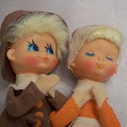 Cute Vintage Thanksgiving Pilgrim Pixies
