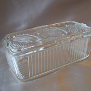 Federal Clear Glass Refrigerator Dish