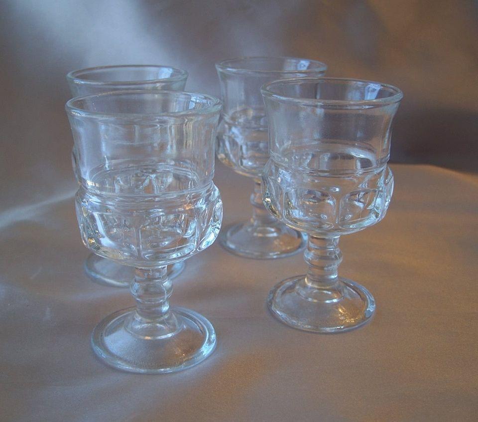 Crystal Indiana Glass Thumbprint Stem