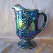 Indiana Glass Harvest Blue Carnival Pitcher