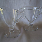 Imperial Glass Candlewick Creamer and Sugar
