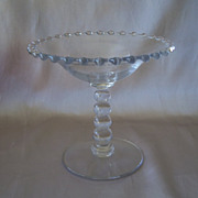 Crystal Candlewick Glass Compote