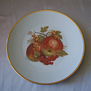 Hand Painted  Fruit Design Jahra Bareuther Waldsassen Bavarian  Plate