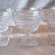 Six Crystal Imperial Cape Cod Sherbets