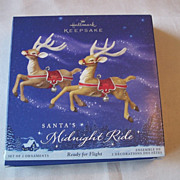 Hallmark Santa's Midnight Ride Ready For Flight Ornament