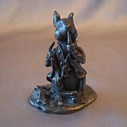 SOLD Beatrix Potter Peter Rabbit Pewter Figurine