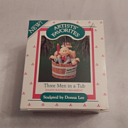 1987 Hallmark Keepsake Ornament  Three Men in a Tub