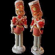 Two Christmas Pixie Elf Drummer Boys