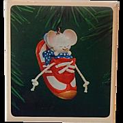 Hallmark 1983 Sneaker Mouse Keepsake Ornament