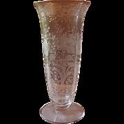 Cambridge Glass Wildflower Crystal Flower Vase