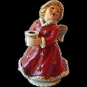 SOLD Goebel Christmas Angel Candleholder and Music Box