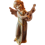 SOLD Fontanini Depose Italy Angel Playing a Mandolin