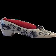 Blue Onion Shoe / Slipper Pin Cushion