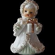SOLD Christmas Angel Bell Figurine Japan
