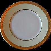 Hutschenreuther Bavaria Porcelain Pattern HUT5 Gold Encrusted Dinner Plate